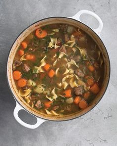 Beef Stew with Noodles Recipe. Affordable chuck roast is a great choice for stews because it becomes tender and flavorful as it simmers. Cut the meat into small pieces to shorten the cooking time.
