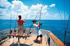 Went deep sea fishing aboard the Swoop II in Destin, Florida.   So much fun !!