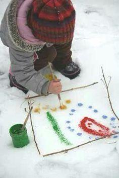 Verven in de sneeuw