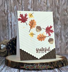 Sunny Studio Stamps: Fishtail Banner II & Autumn Splendor Fall Leaves Card by Kimberly Rendino.