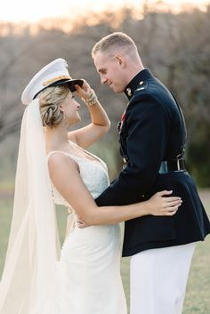 Adorable military wedding: http://www.stylemepretty.com/2014/08/14/romantic-pastel-military-wedding/ | Photography: Michelle Lange - http://www.loveandbemarried.com/