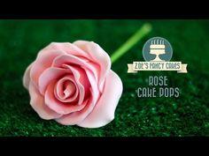 Rose cake pops how to make flower cake pops roses cake pop tutorial - YouTube