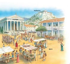 The agora of Athens in the 5th century BC