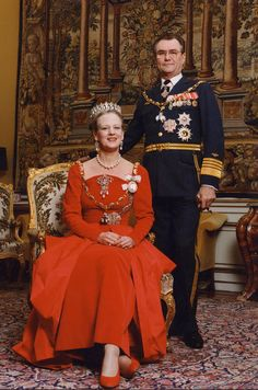 Photo d'archives de la reine Margrethe II et du prince Henrik de Danemark.