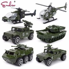 Endev 6pcs 1:87 alloy Alloy metal car Baby Diecasts Toy Vehicles model boys fire truck military Policy car toys for children