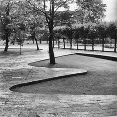 Arne Jacobsen (Danish, 1902 - 1971) – Architect and Niels Thulstrup Ulrichsen (Danish, 1907 - 1961) – Landscape Architect | Glostrup Town Hall Park | Glostrup, Hovedstaden, Copenhagen, Denmark | 1951-1959