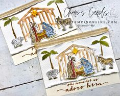 Stampin Up Christmas, Christmas In July, Handmade Christmas, Christmas Nativity, Christmas Crafts, Meaning Of Christmas, Watercolour Tutorials, Custom Cards, Stampin Up Cards