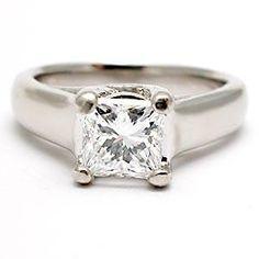 Platinum Engagement Ring Princess Cut 49