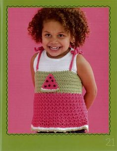 Crochet watermelon tank top