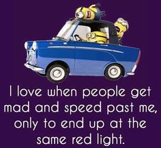 They only ended up at the same red light because of how long it took you to accelerate to the speed limit an they didn't get around you fast enough!! Lmfao