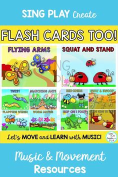 "BUGGY MOVEMENT ACTIVITIES are perfect to get your ""littles"" moving in music classes or in your preschool activities. Students will love imitating the different bugs while developing gross and fine motor skills. Elementary teachers will love using these bug movement cards for brain breaks too. Physical Education Games, Character Education, Music Education, Health Education, Music Teachers, Music Classroom, Preschool Movement Activities, Preschool Songs, Physical Activities"