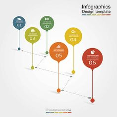 Infographic design template with place for your data. Layout Design, Graphisches Design, Chart Design, Vector Design, Infographic Powerpoint, Timeline Infographic, Infographic Templates, Infographics Design, Presentation Board Design