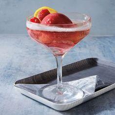 Limoncello and Raspberry Sorbet w/ Bubbly