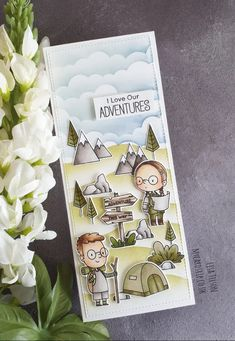 Handmade Greeting Card Designs, Camping Cards, Mft Stamps, Fall Cards, Kids Cards, Homemade Cards, I Card, Paper Crafts, Diy Crafts