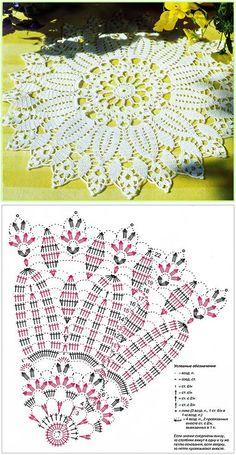 "Ажурная салфетка ""Хризантема"" | Милые мелочи...<3 Deniz <3 Crochet Doily Diagram, Crochet Lace Edging, Crochet Doily Patterns, Crochet Mandala, Crochet Chart, Thread Crochet, Filet Crochet, Crochet Flowers, Crochet Stitches"