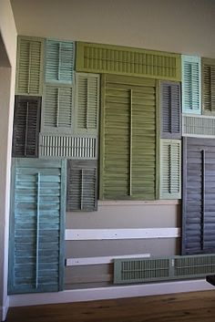 using old shutters as wall decor? YES!