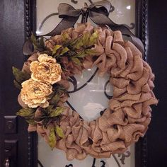 A personal favorite from my Etsy shop https://www.etsy.com/listing/223204212/rustic-country-jute-wreath
