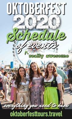 Oktoberfest 2020 Schedule of (Really Awesome) Events – Oktoberfest 2020 Veranstaltungskalender – Oktoberfest Party, Oktoberfest Outfit, Oktoberfest Hairstyle, Munich Oktoberfest, Weekender, Survivor Winner, Upcoming Festivals, Munich Germany, Beer Festival