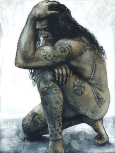 Tania Wursig - Te Aito - Blood & Ink A collection of works inspired by the 'Mana' (spiritual energy) of the people and culture of Tahiti. Polynesian Men, Polynesian Culture, Polynesian Dance, Polynesian Tattoos, Hawaiian Dancers, Hawaiian Art, Life Tattoos, Body Art Tattoos, Hand Tattoos