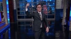 Stephen Colbert spent Monday night cracking jokes about every awkward bit of the president's journey.