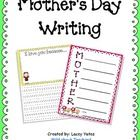 "This pack includes two writing activities for Mother's Day. -Acrostic Poem -""I love you because...""  Enjoy!   Freebie offered under Scrappin..."