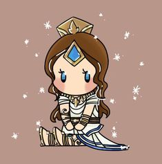 """""""After a very long pause I finally got to drawing a tiny Goddess Lian!"""