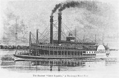 The cotton was shipped by steam boat.
