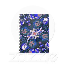 Decorative Retro Notebook from Zazzle.com    decorative , blue , nature , retro , red , symmetric , female , flower , digital , elegant , decoration , women , teens , flowers , natural