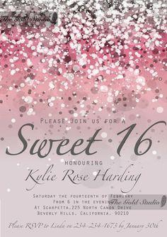 Sweet 16 Pink Invitation