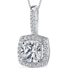 MSRP: $139.99  Our Price: 69.99  Savings: 70.00    Item Number: SP10854    Availability: Usually Ships in 5 Business Days    PRODUCT DESCRIPTION:    Crafted in Sterling Silver, a shimmering halo of pave set White Cubic Zirconia surrounds a beautiful and sparkling Cushion Cut Cubic Zirconia in this gorgeous pendant for her. This Pendant features superb craftsmanship and finishing. Each CZ is set with the aid of a microscope.    FEATURES:    Crafted in Fine Sterling Silver  6.0 x 6.0mm Cushion…