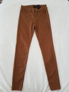 Pantalon slim, cigarette H&M Marron