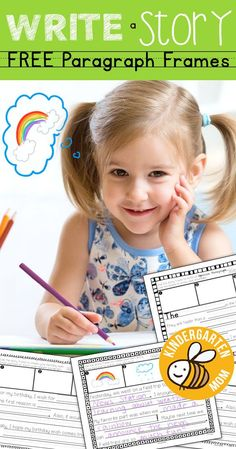 Write a Story with this fun set of FREE paragraph frames. students can build a paragraph and draw in their sequenced events. Kindergarten Writing Prompts, Kindergarten Prep, Writing Activities, Writing Ideas, Kindergarten Handwriting, Teaching Writing, Creative Activities, Classroom Activities, Literacy