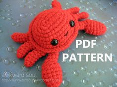 Caranguejos... Crab Amigurumi Crochet Pattern PDF by AwkwardSoul on Etsy, $3,99