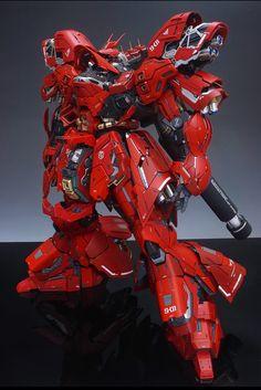 GUNDAM GUY: MG 1/100 Sazabi Ver Ka [Full Open Hatch] - Customized Build