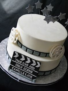 Movie themed wedding cake