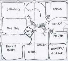 Block diagram more accurate but still preliminary layout of bubble diagram house plan ccuart Images