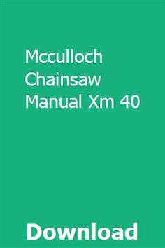 7 Best McCulloch Chainsaw Parts images in 2017 | Chainsaw parts
