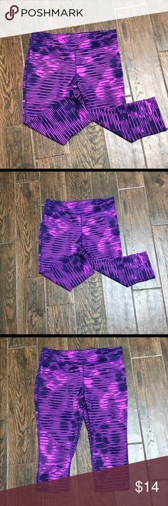 Terez Fair Isle Purple Performance Leggings ($78) ❤ liked on ...