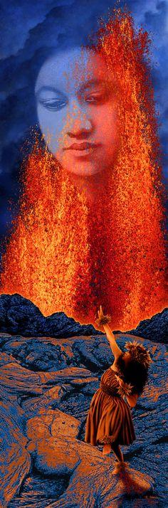 Artwork of Pele - Goddess of Hawaii's Volcanoes