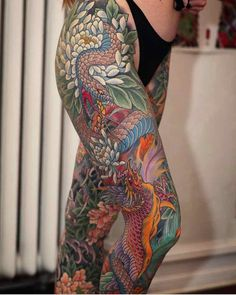 Some of the most amazing Irezumi leg sleeves of all time by Johan Svahn (IG—johansvahntattooing). Irezumi Tattoos, Yakuza Style Tattoo, Bild Tattoos, Leg Tattoos, Body Art Tattoos, Fenix Tattoo, Tattoo Henna, Tattoo On, Tattoo Pics