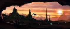 Sci-fi concept art by Dusty Crosley.