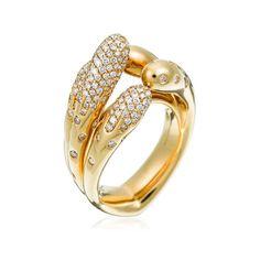 Stefan Hafner Acqua 18K Yellow Gold Ring With Diamonds (=)