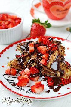 Tosty francuskie z nutellą - Najlepsze przepisy | Blog kulinarny - Wypieki Beaty Fruit Salad, Nutella, Sweets, Blog, Cakes, Pictures, Photos, Fruit Salads, Gummi Candy