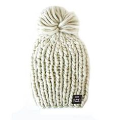 soft and comfy pom beanie collaboration from Chelsea Houska and Kitsch in  cream Chelsea Houska 0c1a36c068cf