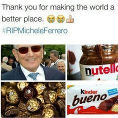 #danke #micheleferrero #thankyouformakingtheworldabetterplace #thankyousomuch #merci #grazie #muchosgracias #ferrero #rocher #bueno #kinderschokolade #chocolate #schokobons #sweets #yummie #nutella #bestermann #rip #instafood #instasweets #tagsforlikes