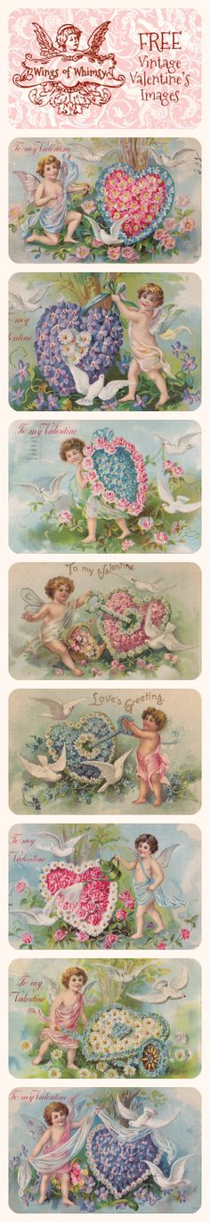 Wings of Whimsy: Vintage Valentine's Images - free for personal use #vintage #ephemera #valentine #printable #freebie