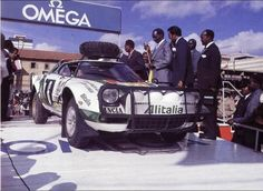 1980: Traditional Kenya rally flag off by the President in 1980 or 81 of a Lancia stratos