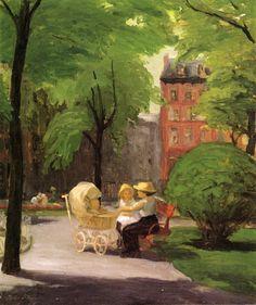John French Sloan - Spring, Grammercy Park 1912