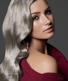 Silver Hair Never Looked So Good // #silver #hair Amaze!