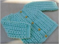 Baby Smiley Jacket Crochet – Tutorial – Craft Addicts